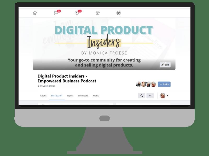 digital product insiders facebook group
