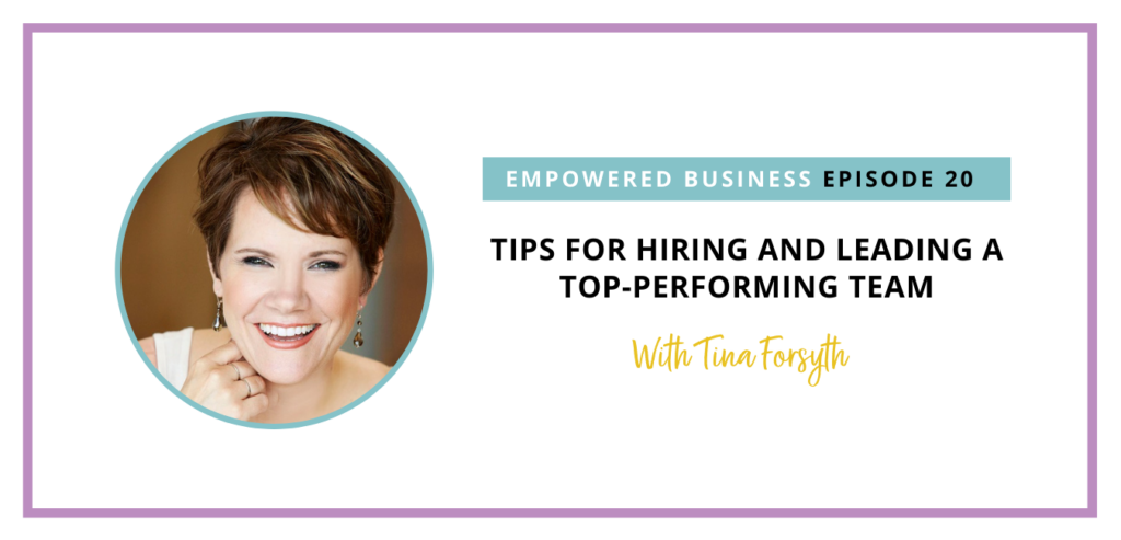 Tina is sharing a wealth of knowledge with us on the practical side of hiring and the mindset behind hiring, so tune in to learn more!